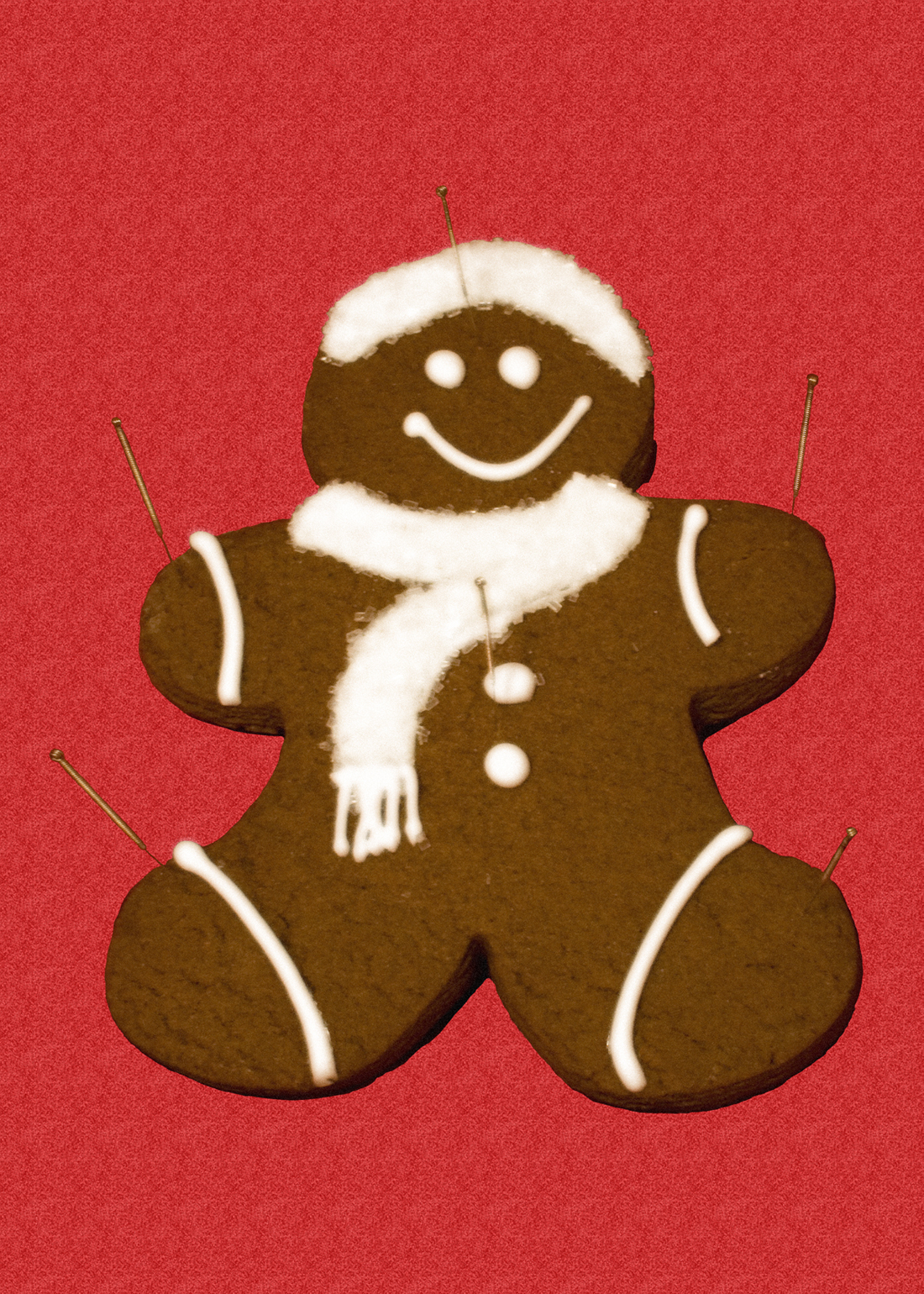 Gingerbread Man Acupuncture Card