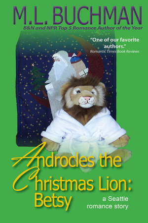 Androcles the Lion cover, a stuffed lion on green background